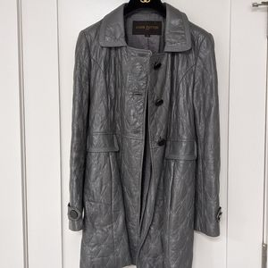 Vintage Louis Vuitton Gray quilted coat